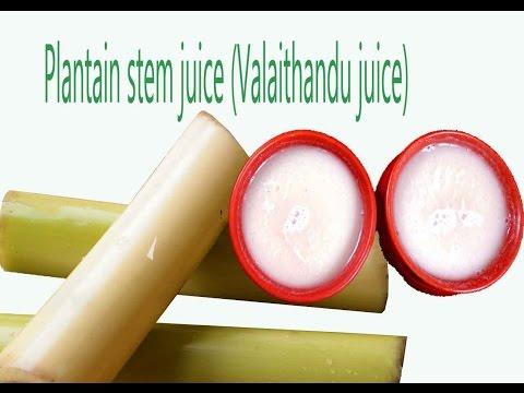 plantain stem juice